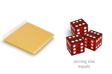 cheese serving size